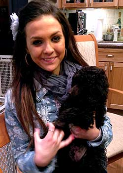 Brianna (my grandaughter) with the last DEMI x GIANNI...puppy... to be leaving next week!